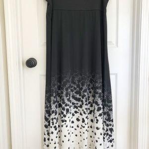 Lularoe Women's White/Black Maxi Skirt 3X
